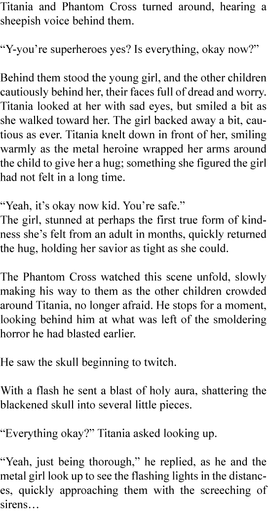 Filler: Tales of C.A.P.E.-Titania Page 12 (prose)